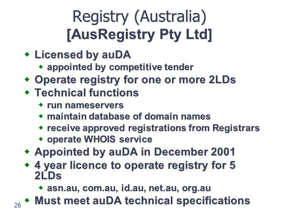Registry (Australia) [AusRegistry Pty Ltd]